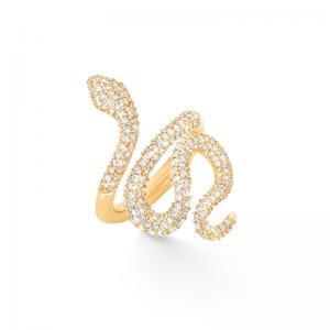 Ole Lynggaard Snakes Ring, 750 Gelbgold, Pavé, 239 Brillanten zus.1,35 ct TW.VS