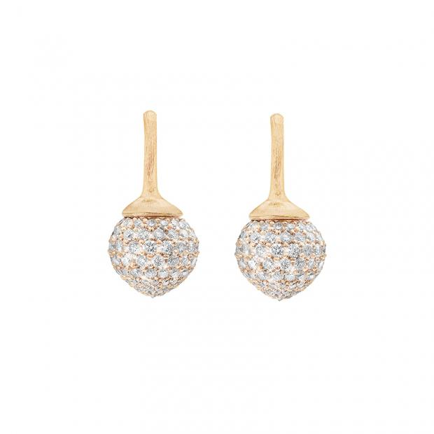 Dew Drop Ohrringe 750 Gelbgold mit Brillanten