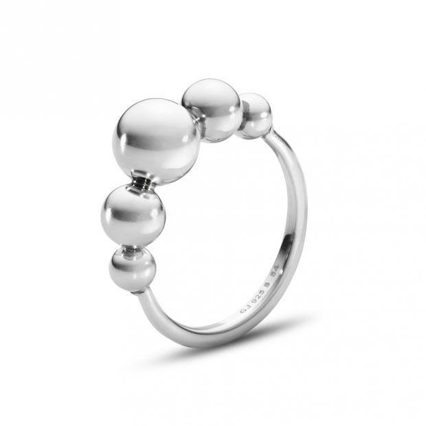 Moonlight Grapes Slim Ring 925 Silber