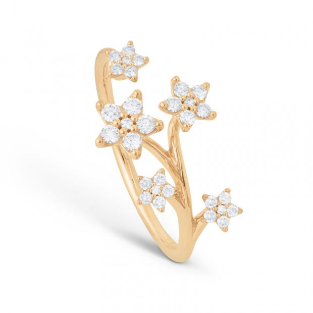 Shooting Stars Ring 750 Gelbgold mit Brillanten