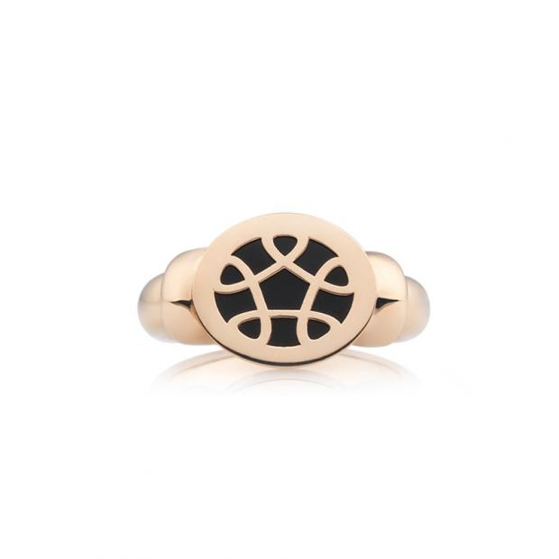 Toujours Ajour Piccolo Ring 750 Roségold mit Onyx