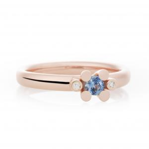 Bron Joy Ring 750 Roségold, 2 Brill. zus. 0.02 ct....