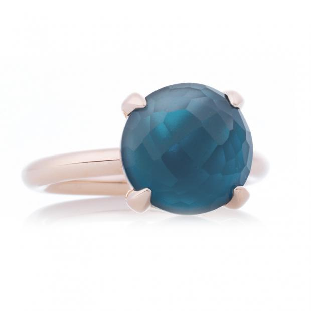 Bild Bron Catch Ring 750 Roségold, London Blue Topas...