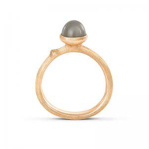 Ole Lynggaard Lotus Tiny Ring No. 0, 750 Gelbgold, grauer...
