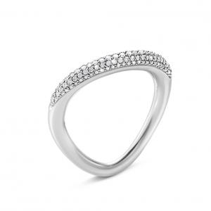 Georg Jensen Offspring Ring 925 Silber, Brillanten Pavé...