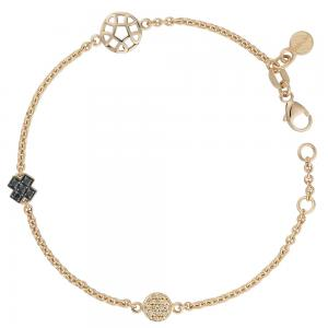 Bron Joy Icon Armband 750 Roségold, 14 Champagner Brill....