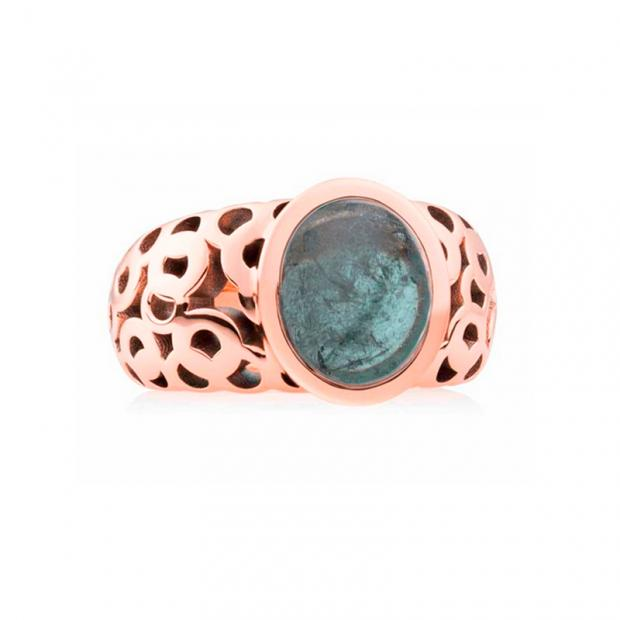 Toujours Ajour Ring 750 Roségold mit Indigolith
