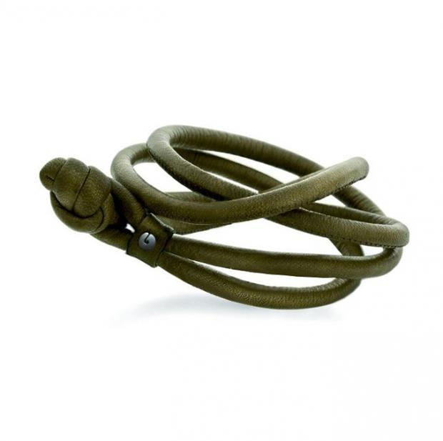 Sweet Drop Lederarmband Army Green