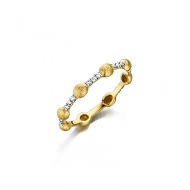 Dancing Élite Ring 750 Gelbgold mit Brillanten