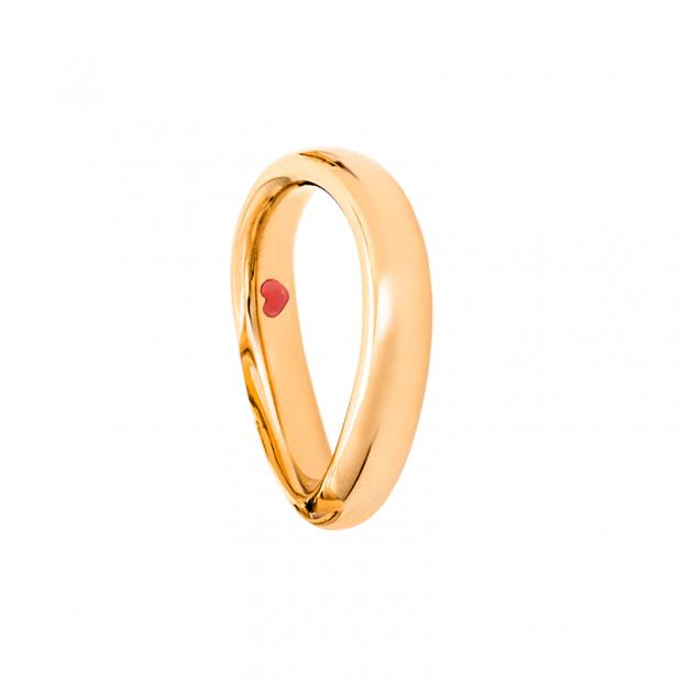 Love Ring Mens 750 Gelbgold poliert