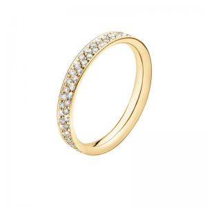 Georg Jensen Magic Ring Slim 750 Gelbgold, Brillanten Pavé