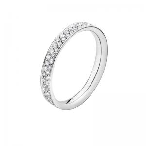 Georg Jensen Magic Ring Slim 750 Weißgold, Brillanten Pavé