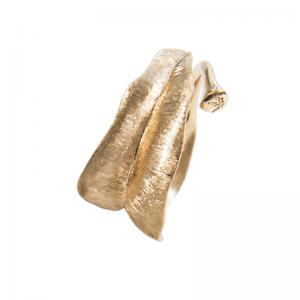 Ole Lynggaard Leaves Ring, medium, 750 Gelbgold
