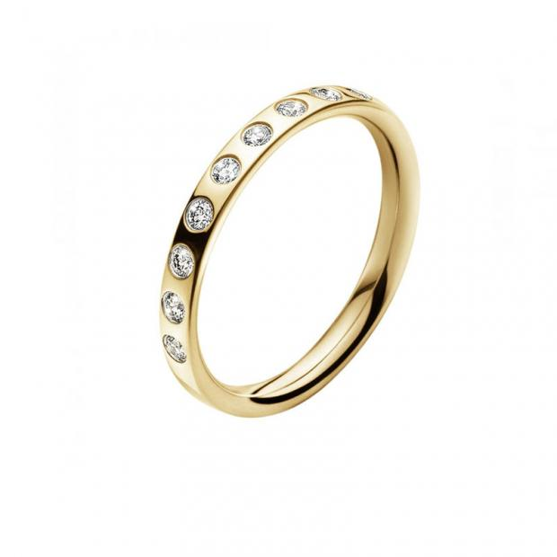 Magic Ring Slim 750 Gelbgold mit Brillanten