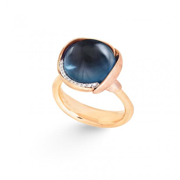 Bild Ole Lynggaard Lotus Ring No. 3, London Blue Topaz...
