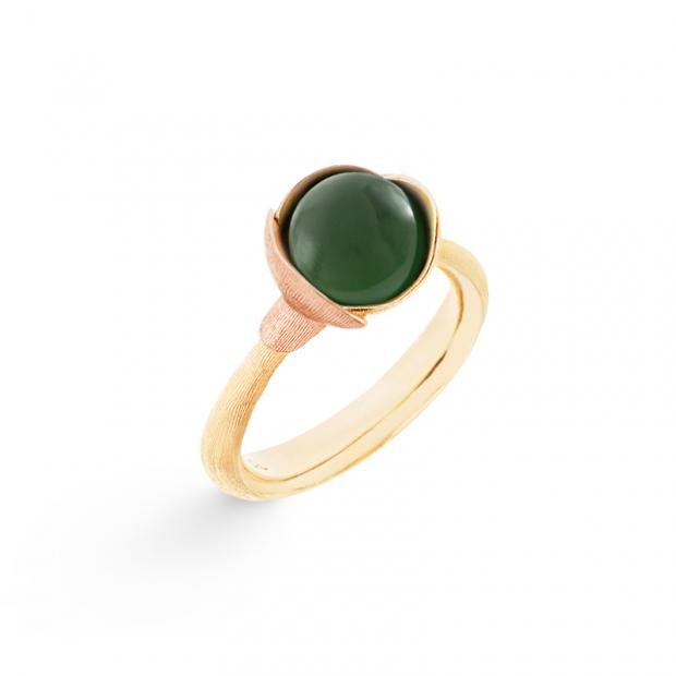 Bild Ole Lynggaard Lotus Ring No.1, Serpentin Cabochon, 750...